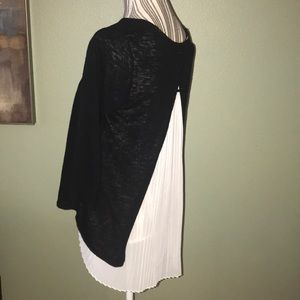 W5 Anthropologie sweater top, sheer off white back